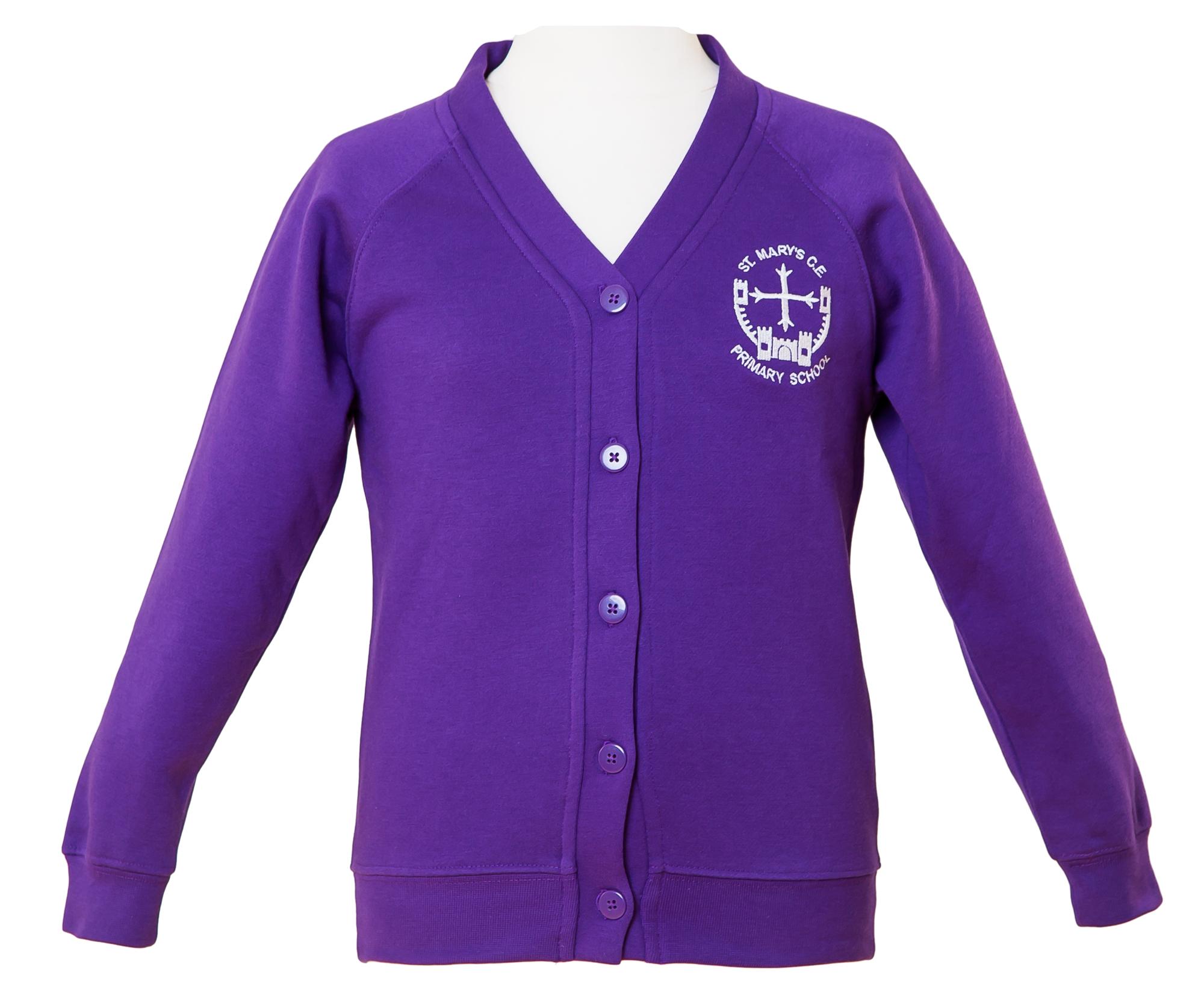 Purple Cardigan with Logo