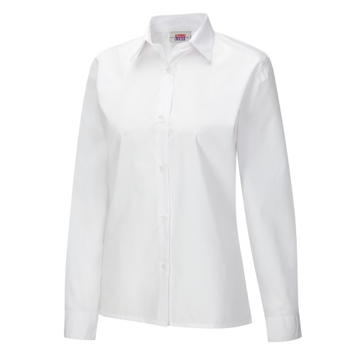 Girls White Blouse (Twin Pack)