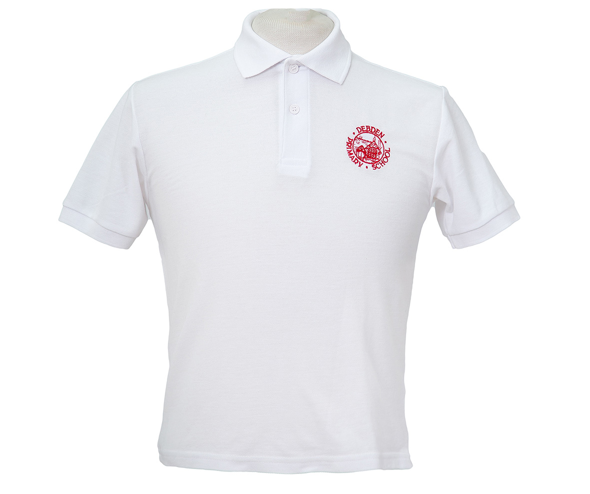 White polo with embroidery