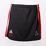 Skort In Black And Red With School Logo