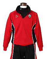 Rugby Top In Red And Black With School Logo (Reversible)