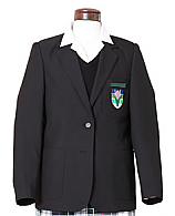 Girls Blazers In Black With School Badge And Year Bar