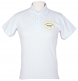 White Polo With Logo (DL409)