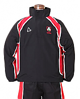 Teamwear Top In Black And Red With School Logo