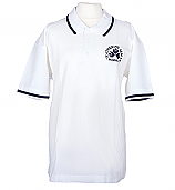 White Polo Top With Logo