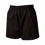 Black Elasticated PE Shorts