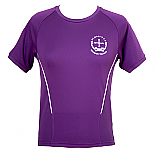 Purple PE T-Shirt with Logo