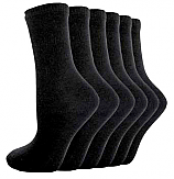 Black Cotton Socks (Pack of 5)