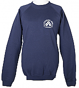 Navy O-Neck Sweatshirt With Logo