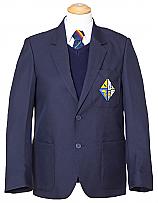 Boys Navy Blazers with Logo