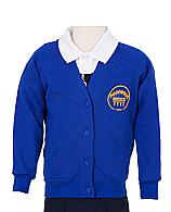 Royal Blue Cardigan with Logo