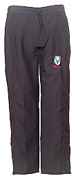 Girls Joggers In Black With School Logo