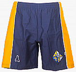 Navy and Yellow Rugby Shorts with Logo
