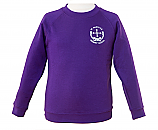 Purple Sweatshirt with Logo