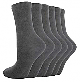 Grey (5 Pack) Short Socks