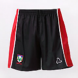 Rugby Shorts In Black And Red With School Logo